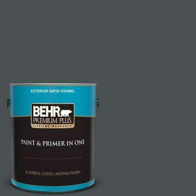 1 gal. #PPU18-01 Cracked Pepper Satin Enamel Exterior Paint and Primer in One