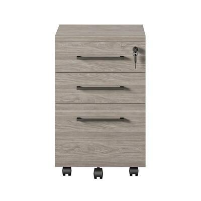 3-Drawer Zeetah Light Brown Oak File Cabinet