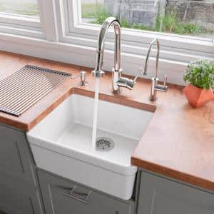 American Standard Delancey Farmhouse Apron Front Cast Iron 30 In 4 Hole Single Bowl Kitchen Sink In Brilliant White 77sb30220a 308 The Home Depot
