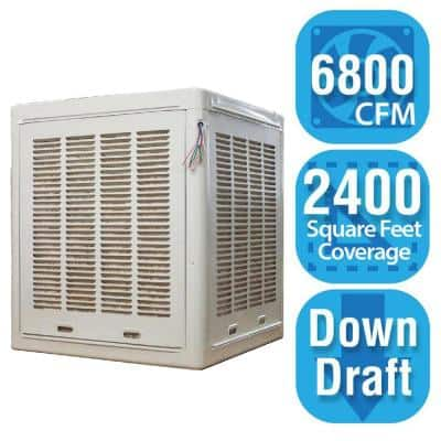 6,800 CFM Down-Draft Aspen Roof/Side Evap Cooler (Swamp Cooler) for 20 in. Ducts 2,400 sq. ft. (Motor Not Included)
