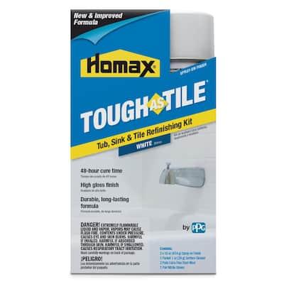 32 oz. White Tough as Tile Aerosol Tub, Sink, and Tile Refinishing Kit
