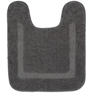 Facet Grey 20 in. x 24 in. Nylon Machine Washable Bath Mat