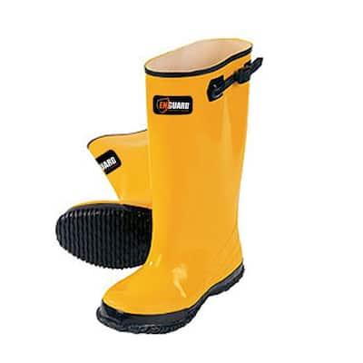 Men Size #9 Yellow Rubber Slush Boots