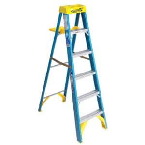 6 ft. Fiberglass Step Ladder with 250 lbs. Load Capacity Type I Duty Rating