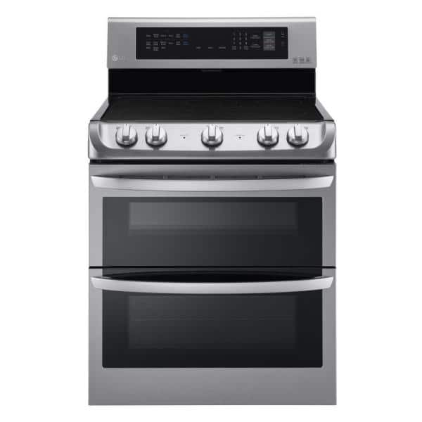 Lg Electronics 7 3 Cu Ft Double Oven Electric Range With Probake Convection Self Clean And Easyclean In Stainless Steel Lde4413st The Home Depot