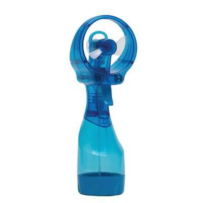Deluxe 3 in. Water Misting Personal Fan in Blue