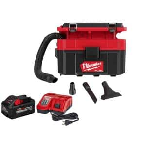 M18 FUEL PACKOUT 18-Volt Lithium-Ion Cordless 2.5 Gal. Wet/Dry Vacuum Kit with 8.0 Ah Battery and Charger