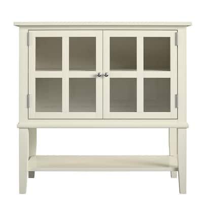 Queensbury 2-Door Soft White Storage Cabinet