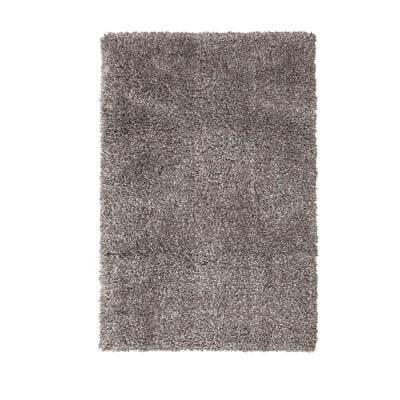 Cozy Shag Grey 8 Ft X 10 Ft Area Rug 2928 8x10 The Home Depot