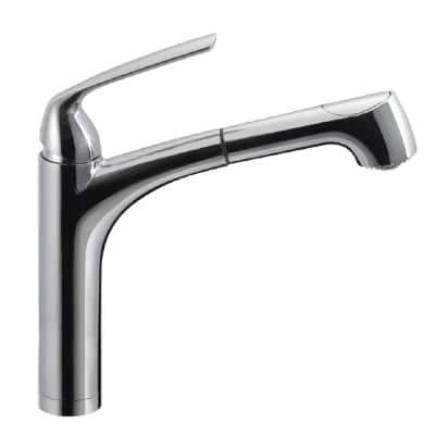 Calia Single-Handle Pull Out Sprayer Kitchen Faucet with CeraDox Technology in Polished Chrome