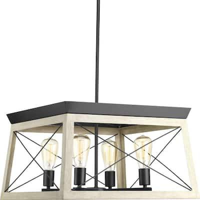 Briarwood Collection 4-Light Graphite Coastal Chandelier Light