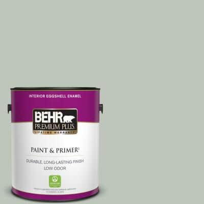 1 gal. #N410-3 Riverdale Eggshell Enamel Low Odor Interior Paint & Primer