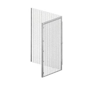 Salsbury Industries Storage Locker Option 36 In W X 0 5 In D X 90 In H Wire Back Bulk Storage Locker With Back Option In Aluminum 8337 B The Home Depot