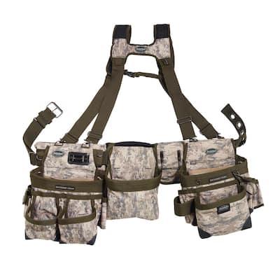 3-Bag Framer's Suspension Rig Work Tool Belt with Suspenders in Digital Camo