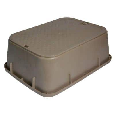 14 in. X 19 in. Rectangular Standard Series Valve Box Extension & Cover, 6-3/4 in. Height, Sand Box, Sand ICV Cover