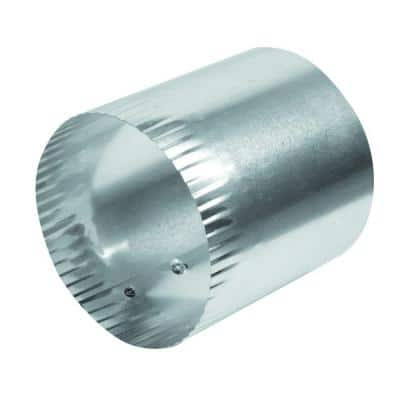 4 in x 4 in Solid Aluminum Duct Connector