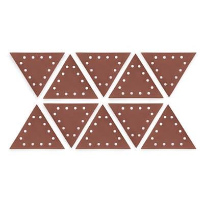 Drywall Sander 150-Grit Hook and Loop 11-1/4 in. Triangle Sandpaper (10-Pack)