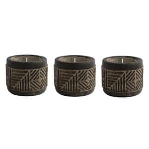 6 oz. Aztec-Inspired Carved Citronella Candle (3-Pack)