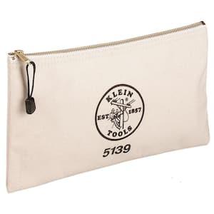 12-1/2 in. Canvas Zipper Bag