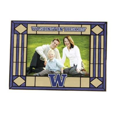 NCAA 4 in. x 6 in. Gloss Multicolor Art Glass Washington Picture Frame