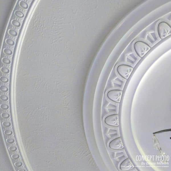 For Canopies up to 3 34 17 34OD x 1 38P Carton Ceiling Medallion