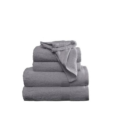 Antimicrobial 6-Piece Grey Towel Set