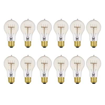 60-Watt Vintage Edison A19 Quad Loop Dimmable Incandescent Filament Light Bulb (12-Pack)