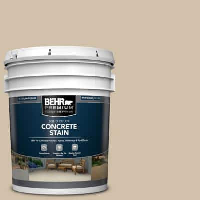 5 gal. #PFC-27 Light Rattan Solid Color Flat Interior/Exterior Concrete Stain