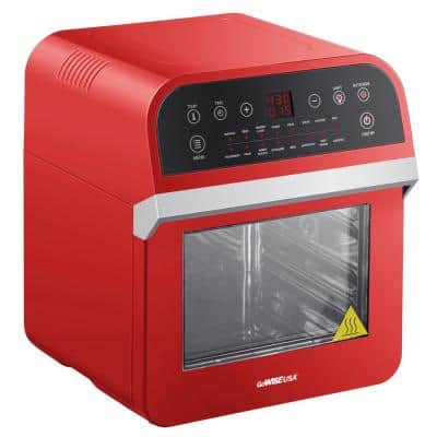 1600 W Red Rotisserie Oven and 12.7 Qt. Electric Air Fryer
