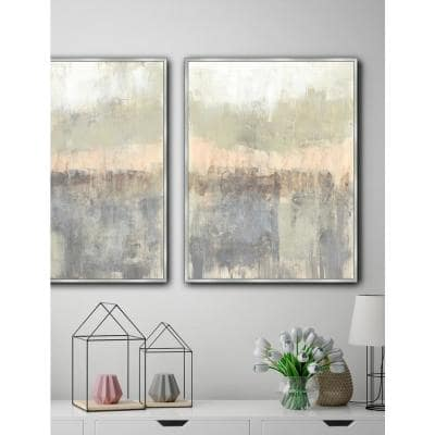 30.75 in. x 24.75 in. 'BLUSH NEUTRALS I' by Jennifer Goldberger Framed Canvas Wall Art