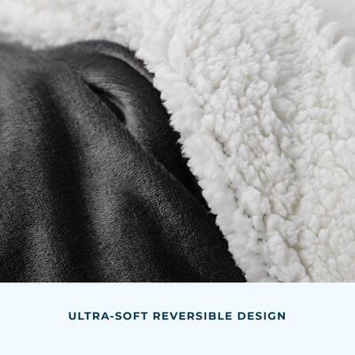 Reversible Fleece and Sherpa Blanket