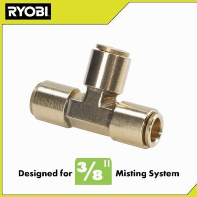 3/8 in. Brass Slip Lock T-Connector