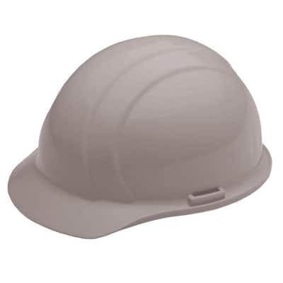 4 Point Plastic Suspension Mega Ratchet Cap Hard Hat in Gray