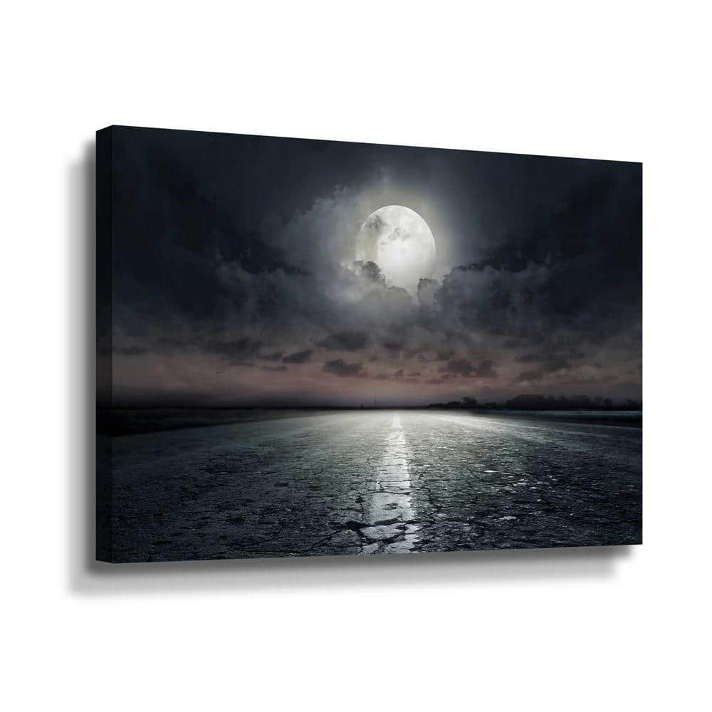 Artwall Moon By Photoinc Studio Canvas Wall Art 5pst181a1218w The Home Depot