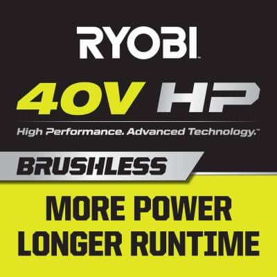 40V HP Brushless 21 in. Battery Walk Behind Dual-Blade Self-Propelled Mower &String Trimmer - (3) Batteries/(2) Chargers