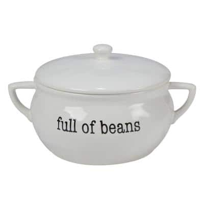 Just Words 11 in. 84 oz. Multi-Colored Bean Pot