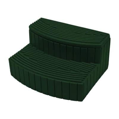 Lightweight Plastic Outdoor and Indoor Storage Step in Green