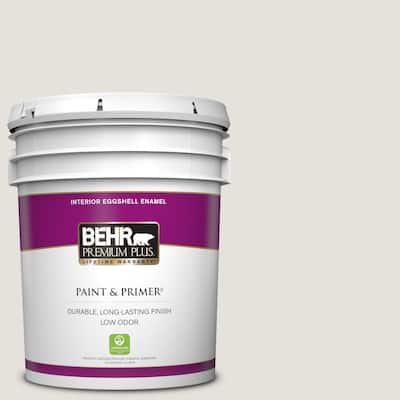 5 gal. #PPU18-08 Painters White Eggshell Enamel Low Odor Interior Paint & Primer