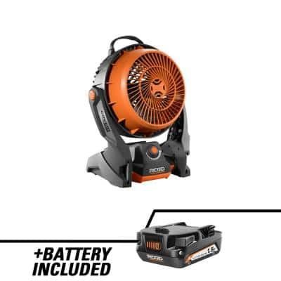 18V Hybrid Cordless Fan with 18V Lithium-Ion 1.5 Ah Battery