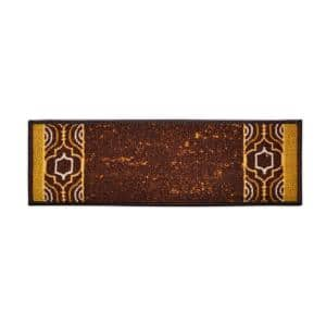 Trellis Border Custom Size Stair Treads Brown 6.5 in. x 32 in. Indoor Carpet Stair Tread Cover Slip Resistant (Set of 7)