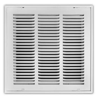 14 in. x 14 in. Steel Return Air Filter Grille in White