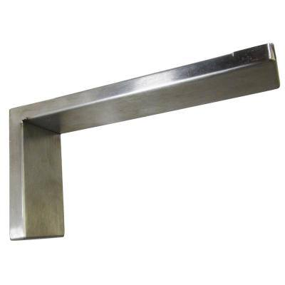 Providence Novelle 8 in. x 4 in. Stainless Steel Low Profile Countertop Bracket