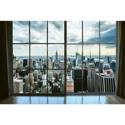 Industrial Manhattan Window View Farm and Country Wall Mural