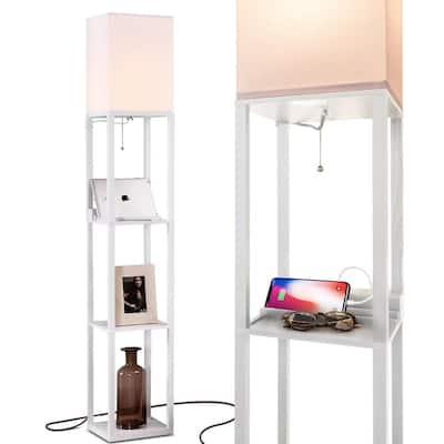 Pull Chain Lamps Lighting The, Skinny Floor Lamp With Shelves