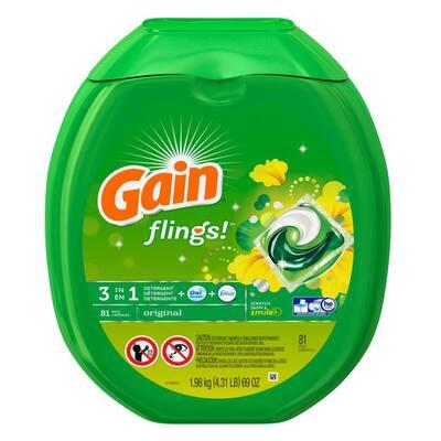 Flings Original Scent Laundry Detergent Pods (2-Pack, 81-Count)