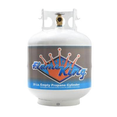 20 lbs. Empty Propane Cylinder with Overflow Protection Device