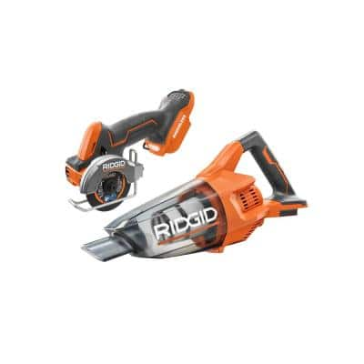 18V Cordless Brushless 2-Tool Combo Kit w/ SubCompact 3 in. Multi-Material Saw and 18V Cordless Hand Vacuum (Tools Only)