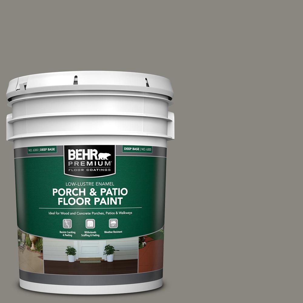 Behr Premium 5 Gal Home Decorators Collection Hdc Nt 23 Wet Cement Low Lustre Enamel Interior Exterior Porch And Patio Floor Paint 630005 The Home Depot