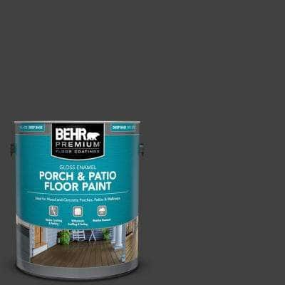 1 gal. #1350 Ultra Pure Black Gloss Enamel Interior/Exterior Porch and Patio Floor Paint