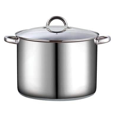 16 qt. Stainless Steel Stock Pot with Glass Lid